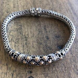 John Hardy Sterling Silver18K YellowGold Bracelet